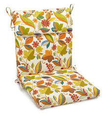 blazing needles outdoor 3 section 19 x 42 in high back patio chair cushion