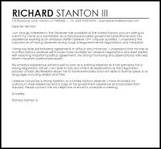 Observer Cover Letter Sample Cover Letter Templates Examples