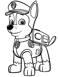 Small Picture Paw Patrol Coloring Pages Chase Coloring Pages for kids
