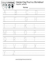 Alphabet Writing Practice Sheets For Preschoolers Preschool Alphabet ...
