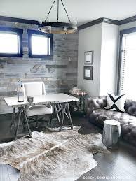 Industrial modern office Flooring Modern Rustic Office Come Take Tour Of This Home Office With Dark Wood Trim Taryn Whiteaker Modern Rustic Office Design Taryn Whiteaker