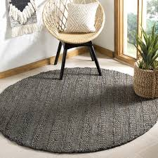 6 x 6 rug. Safavieh Hand-Woven Natural Fiber Contemporary Charcoal Jute Rug (6\u0026#x27; X 6
