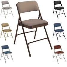 NPS Fabric Upholstered Premium Folding Chairs (Pack of 4) - Free Shipping  Today - Overstock.com - 12584211