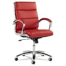office leather chair. Red Leather Office Chair