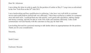 New Free Sample Job Application Letter For Cashier | Cloud Citadel