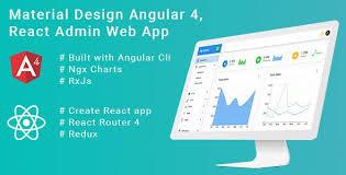 Material Charts Angular Material Design React Redux Angular 4 Admin Web App With