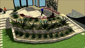 Small Picture Virtual walk throught back garden Gabion Garden Design Studio