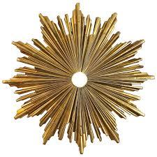 Starburst Flush Mount Light E F Caldwell Dore Bronze Sunburst Ceiling Mount Light Or