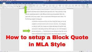 Quotation In Mla Block Quotes Mla