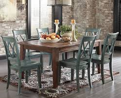 rustic dining set. Casual Dining Set With Rustic Blue Side Chairs W