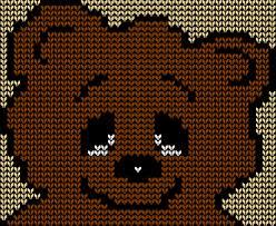 Knitting Charts Free Free Teddy Bear Face Knitting Chart