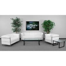 chancellor jacy white leather sofa set