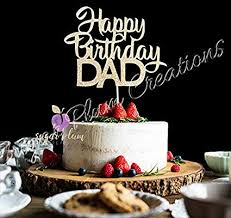 Amazoncom Happy Birthday Dad Cake Topper Arts Crafts Sewing