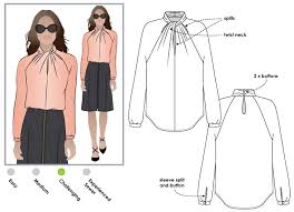 Blouse Sewing Pattern Unique Rosemary Blouse Style Arc