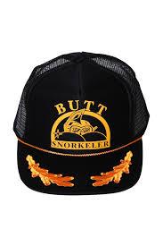Buttsnorkeler Og Captains Hat Black and Gold Snapback | The Capt. Phillips Butt Snorkeler