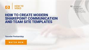 Sharepoint Team Site Template How To Create Modern Sharepoint Communication And Team Site Templates