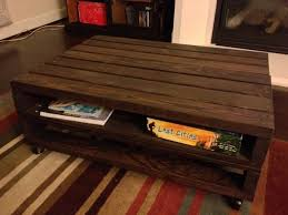 wood pallet coffee table plans image