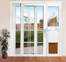large power pet low e dual glass fully automatic patio door regular height