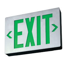 Lithonia Lighting Exit Signs Lithonia Lighting Le S 1 G X2 Led Exit Sign Matte Black