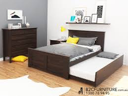 Modern Bedroom Furniture Melbourne Dandenong Trundle Bed Double Kids Beds B2c Furniture