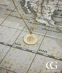 yellow gold st christopher pendant