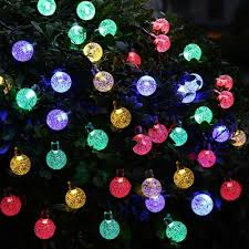 Solar Powered Globe Lights 20ft 30 Led Crystal Ball Solar Powered Ledertek Brand Most Popular Globe Fairy Lights For Outdoor Garden Christmas Decoration Led Outdoor String