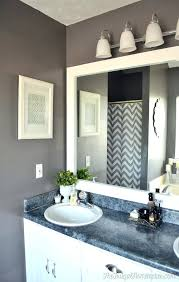 bathroom mirror frame tile. Bathroom Mirror With Frame How To Out That Builder Basic For Or Less Tile
