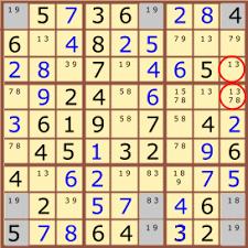 Sudoku Number Combinations Chart Sudoku Swordfish Made Simple