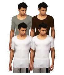 Rupa Multi Half Sleeve Vests Pack Of 4