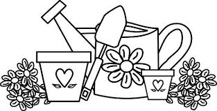 Small Picture Garden Watering Can and Flower Pot Coloring Pages Color Luna