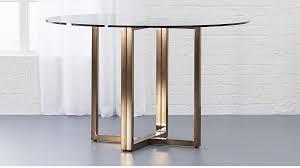 round dining table throughout silverado brass 47 reviews cb2 ideas 17
