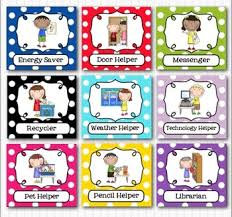 Classroom Job Chart Printable Free Editable Classroom Jobs Helpers Kids Bright Multicolored Polka Dots 40 Cards