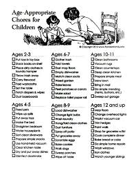 Chores For Kids By Appropriate Age