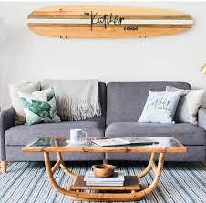 custom decorative wooden surfboard wall