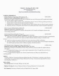 Resume Samples Nursing Students New Resume Templetes Professional