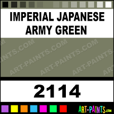 Imperial Japanese Army Green Testors Metal Paints And
