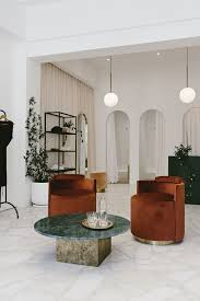 Retail Interior Design South Africa Pink Travertine And Rusty Velvet In A Coolly Chic Cape Town