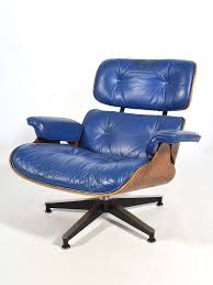 eames chair leather. Rosewood Rare Eames 670 Lounge Chair With Cobalt Blue Leather By Herman Miller For Sale N