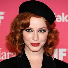 christina hendricks red lip