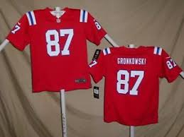 Details About Rob Gronkowski New England Patriots Nike Game Jersey Youth Medium Nwt 75 Red