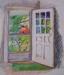 open door painting. The Door Is Always Open Painting
