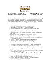 Responsibility Of A Server On Resume Resume For Your Job Application