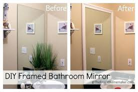 diy framing mirror framed bathroom mirror diy framing a mirror with tile