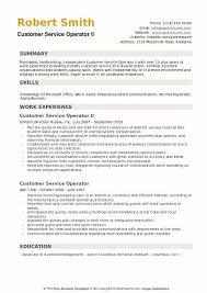 Phone Number On Resume Customer Service Operator Resume Samples Qwikresume