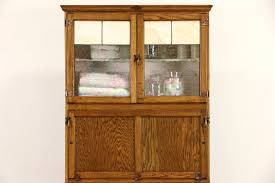 Hoosier Kitchen Cabinet Hygena English 1930s Oak Vintage Hoosier Kitchen Cupboard Or