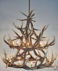 real deer antler chandelier elk group international elk chandelier