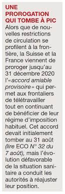 Tant en france qu'en suisse, les autorités. Covid 19 Les Frontaliers Ne Seront Pas Mis En Quarantaine Groupe Ecomedia