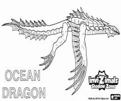Kleurplaat Ocean Dragon Invizimals Shadow Zone Kleurplaten