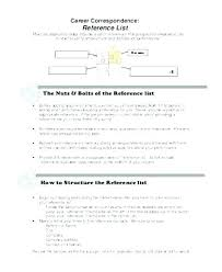 Reference List For Resume Template Resume Reference List Template Metabots Co