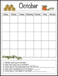 Printable October Calendar October Learning Calendar Template For Kids Free Printable Buggy